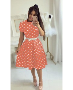 Crepe orange dress