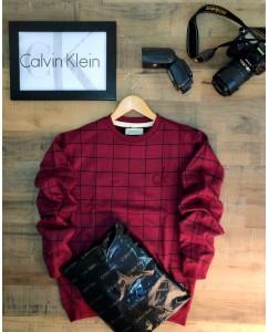 Red simple sweatshirt