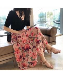 Foral trendy skirt
