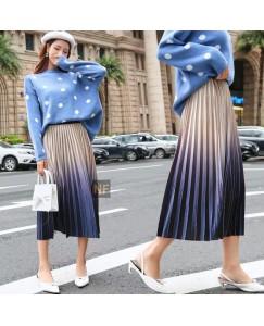 Velvet shaded skirt