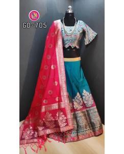 Classy look in Banarshi lehenga