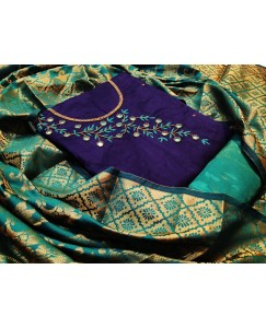 BLUE Banarshi heavy dupatta DRESS